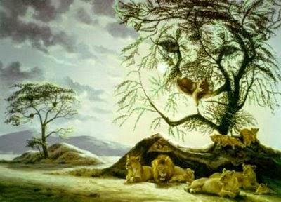 Hidden-lion-face-in-tree